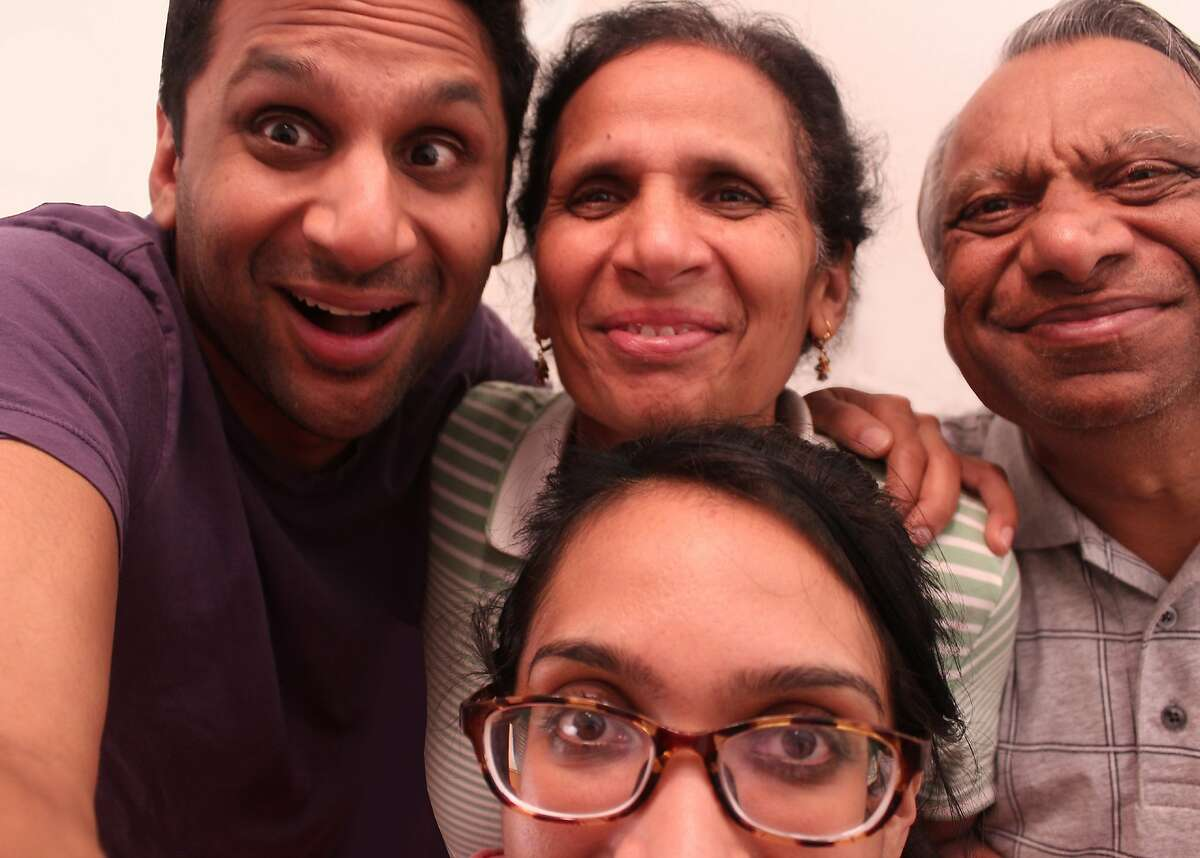 """A FAMILY AFFAIR The whole Patel clan gets involved when Ravi (l) needs to find a wife in the comic documentary, """"Meet the Patels."""" Ravi's sister, Geeta (bottom), directed. Opens Sept. 25. Photo: Courtesy of Alchemy"""