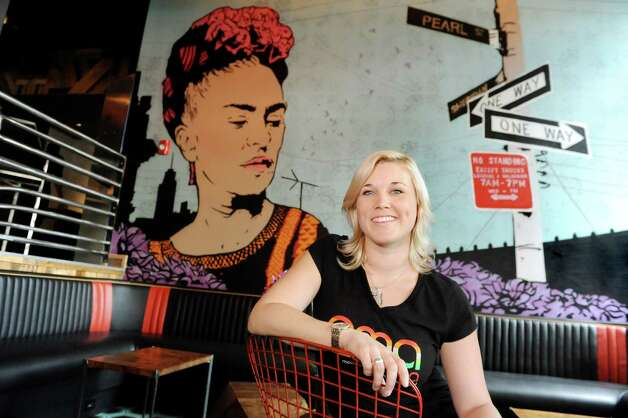 Jessica Evans, general manager and designer on Friday, Sept. 4, 2015, at Ama Cocina in Albany, N.Y. (Cindy Schultz / Times Union) Photo: Cindy Schultz / 00033218A