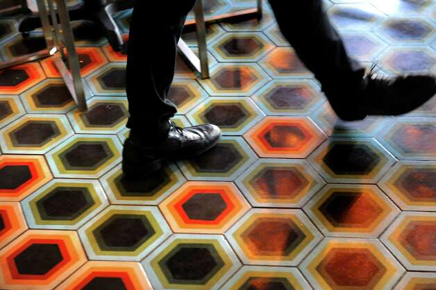 Tile floor on Friday, Sept. 4, 2015, at Ama Cocina in Albany, N.Y. (Cindy Schultz / Times Union) Photo: Cindy Schultz / 00033218A