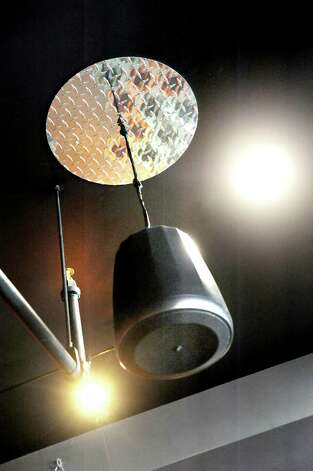 Hanging speaker in the dining room on Friday, Sept. 4, 2015, at Ama Cocina in Albany, N.Y. (Cindy Schultz / Times Union) Photo: Cindy Schultz / 00033218A