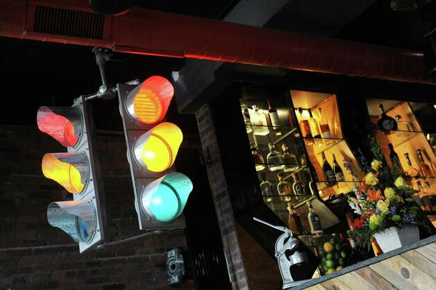 Regulation-size stoplight on Friday, Sept. 4, 2015, at Ama Cocina in Albany, N.Y. (Cindy Schultz / Times Union) Photo: Cindy Schultz / 00033218A