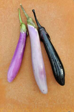 Japanese eggplant on Saturday, Aug. 29, 2015, in Delmar, N.Y. (Cindy Schultz / Times Union) Photo: Cindy Schultz / 00033132A