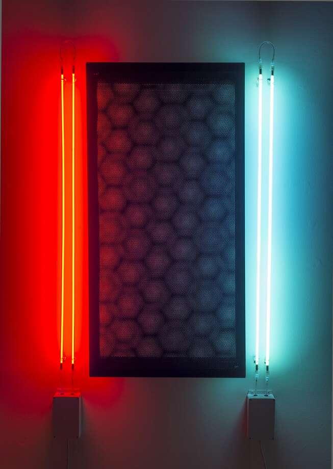 "Chris Fraser's 2015 sculpture ""Mobile   0û, 90û, 90û   Argon and Neon"" appears in ""Chris Fraser: Animated"" through Oct. 31 at Gallery Wendi Norris.  Credit: Chris Fraser and Gallery Wendi Norris Photo: Chris Fraser And Gallery Wendi N"
