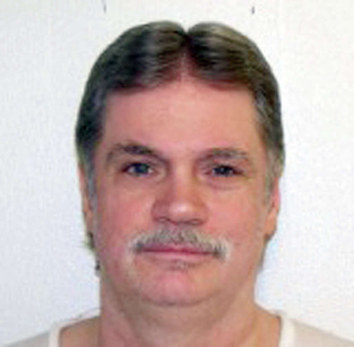 This undated handout photo provided by the Arkansas Department of Correction shows Bruce Earl Ward. Arkansas will resume lethal injections after a 10-year gap in October 2015 with a double execution. Ward and Don William Davis are scheduled to die Oct. 21. Ward, a former perfume salesman was convicted in the 1989 killing of 18-year-old Rebecca Doss. (Arkansas Department of Correction, via AP)