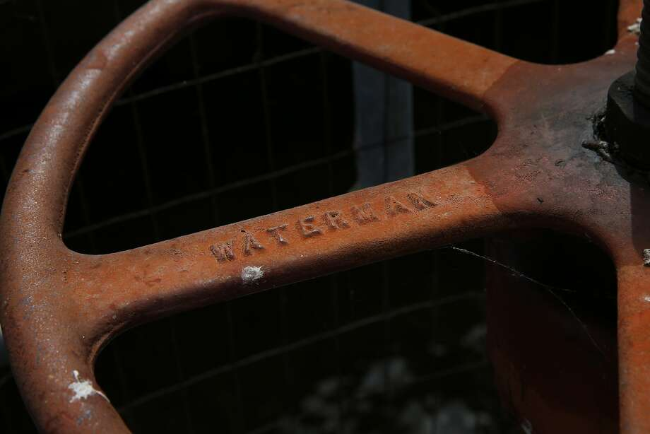 A Waterman valve at the Moccasin Reservoir on July 7. Photo: Leah Millis, The Chronicle