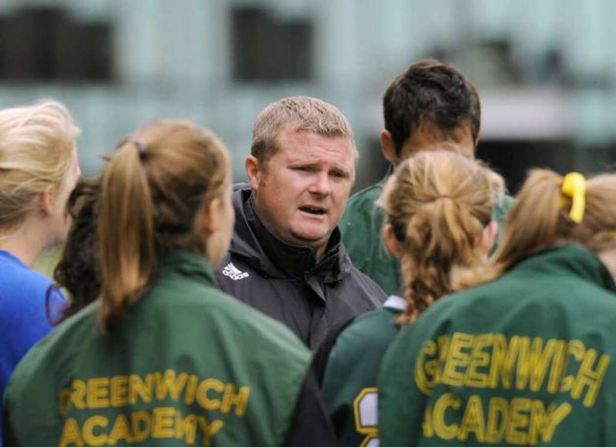 Alistair Lonsdale is beginning his seventh season as coach of the Greenwich Academy soccer team.