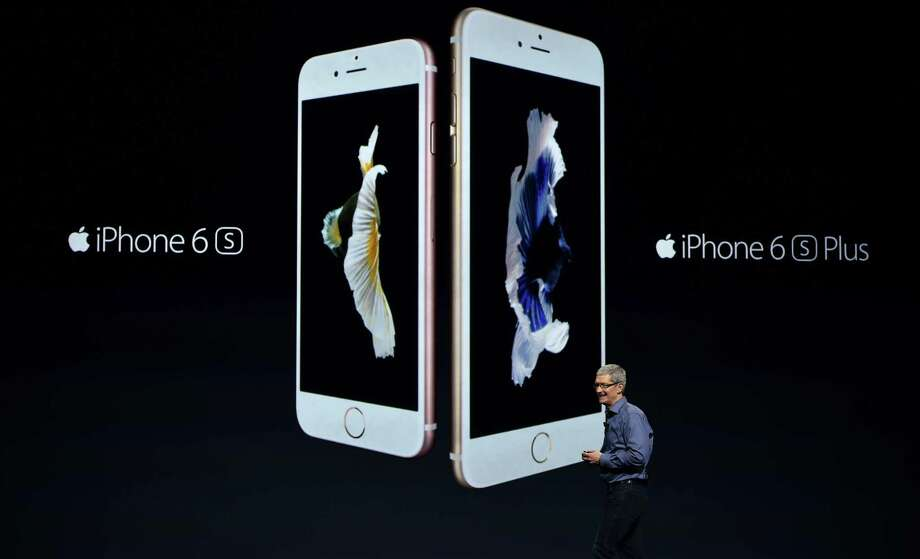 Apple CEO Tim Cook introduces the new iPhone 6s and 6s Plus Wednesday. Photo: Josh Edelson /AFP / Getty Images / AFP