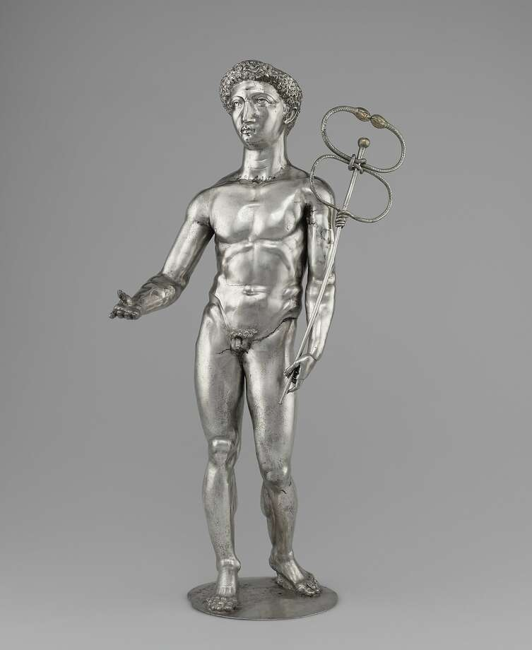 "The silver and gold Roman statue ""Mercury"" (AD 175Ð225) is on exhibit in ""Ancient Luxury and the Roman Silver Treasure From Berthouville"" at the Legion of Honor from Sept. 19-Jan. 10.  Credit: Fine Arts Museums of San Francisco  (NOTE: HIGH RES VERSION / USE THIS) Photo: Tahnee Cracchiola, Fine Arts Museums Of San Francis"