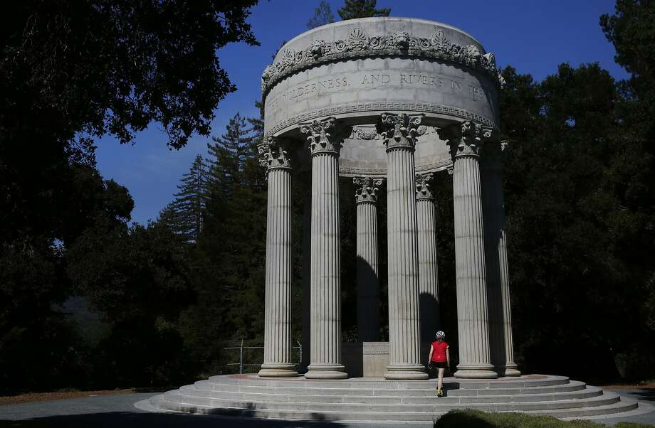 Becky Conner wanders into the Pulgas Water Temple in Redwood City, built at the end of the Hetch Hetchy Aqueduct. Photo: Leah Millis, The Chronicle