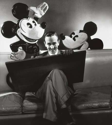 """Walt Disney with his most famous creation, Mickey Mouse, from """"American Experience"""" """"Walt Disney"""" ca. October 1933. Photo: Courtesy Conde Nast/Orbis, PBS"""