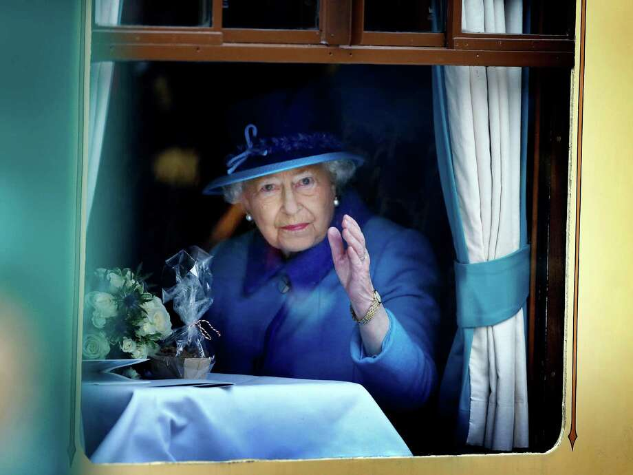 "Britain's Queen Elizabeth II said her record reign was ""not one to which I have ever aspired.""  Photo: Danny Lawson, SUB / PA"