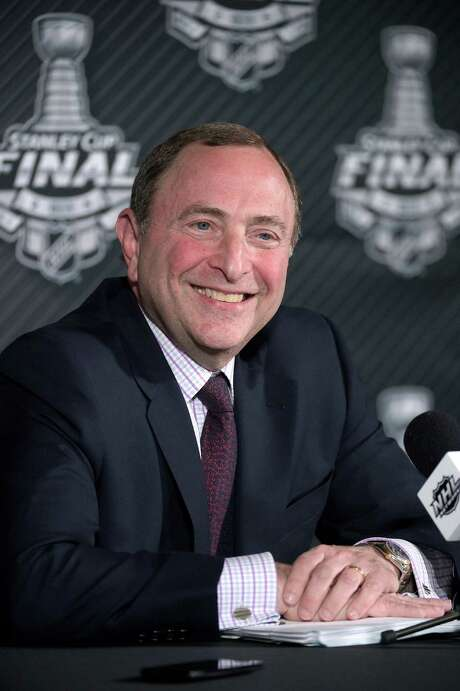 NHL Commissioner Gary Bettman talks during a news conference before Game 1 of the NHL hockey Stanley Cup Final in Tampa, Fla., Wednesday, June 3, 2015. (AP Photo/Phelan M. Ebenhack) Photo: Phelan M. Ebenhack, FRE / FR121174 AP