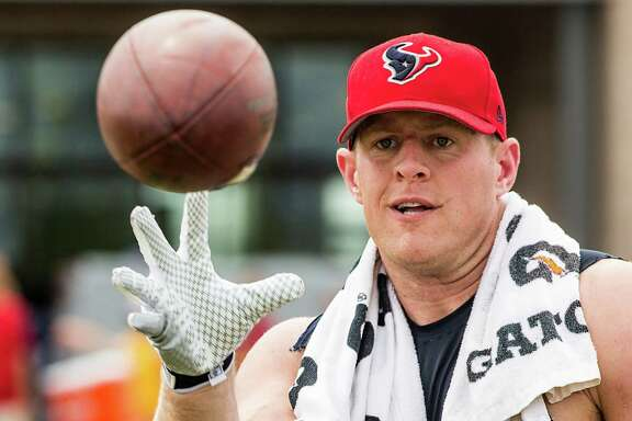 There's no doubt Texans defensive end J.J. Watt will keep his eye on the ball (and the quarterback) Sunday.