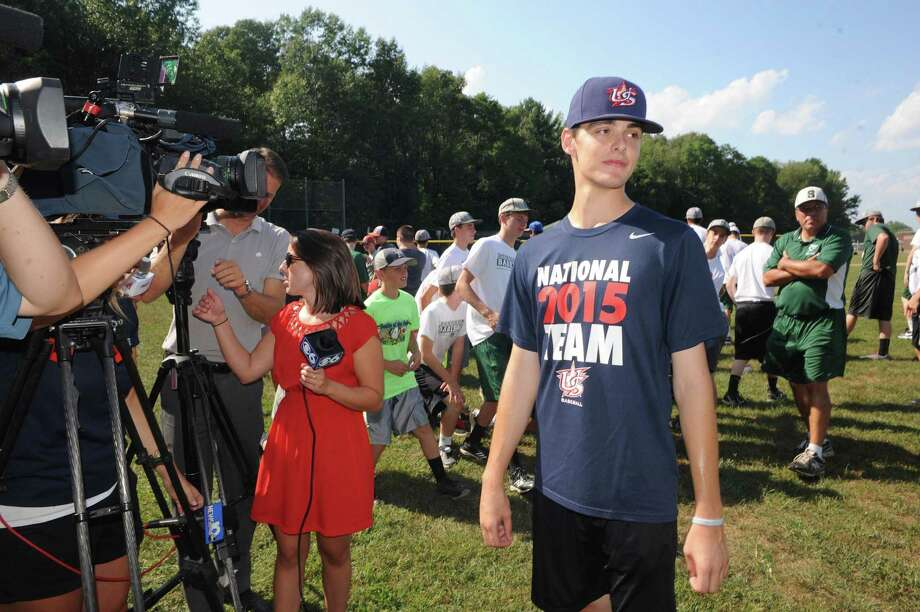Shenendehowa High School baseball pitcher Ian Anderson on Wednesday Sept. 9, 2015 in Clifton Park, N.Y.  Anderson just spent two weeks in Japan helping team USA win the gold at the 2015 18U World Cup. (Michael P. Farrell/Times Union) Photo: Michael P. Farrell / 00033259A
