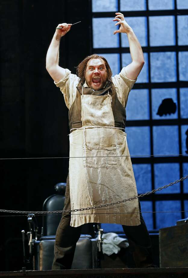 "Brian Mulligan (Sweeney Todd) during SF Opera's ""Sweeney Todd"" dress rehearsal at War Memorial Opera House in San Francisco, Calif., on Wednesday, September 9, 2015. Photo: Scott Strazzante, The Chronicle"