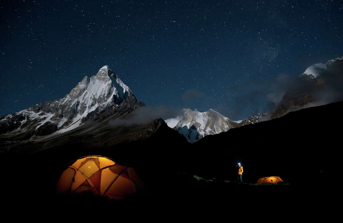 """The documentary ?""""Meru?"""" is the edge-of-the seat story of a quest in the Himalayas. Illustrates FILM-MERU-ADV21 (category e), by Michael O?'Sullivan (c) 2015, The Washington Post. Moved Monday, Aug. 17, 2015. (MUST CREDIT: Jimmy Chin/Music Box Films)"""