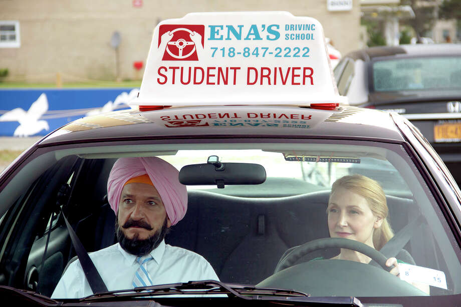"(Ben Kingsley and Patricia Clarkson in ""Learning to Drive."" Illustrates FILM-DRIVE-ADV04 (category e), by Ann Hornaday © 2015, The Washington Post. Moved Wednesday, Sept. 2, 2015. (MUST CREDIT: Linda Kallerus/Broad Green Pictures.) Photo: Broad Green Pictures / THE WASHINGTON POST"
