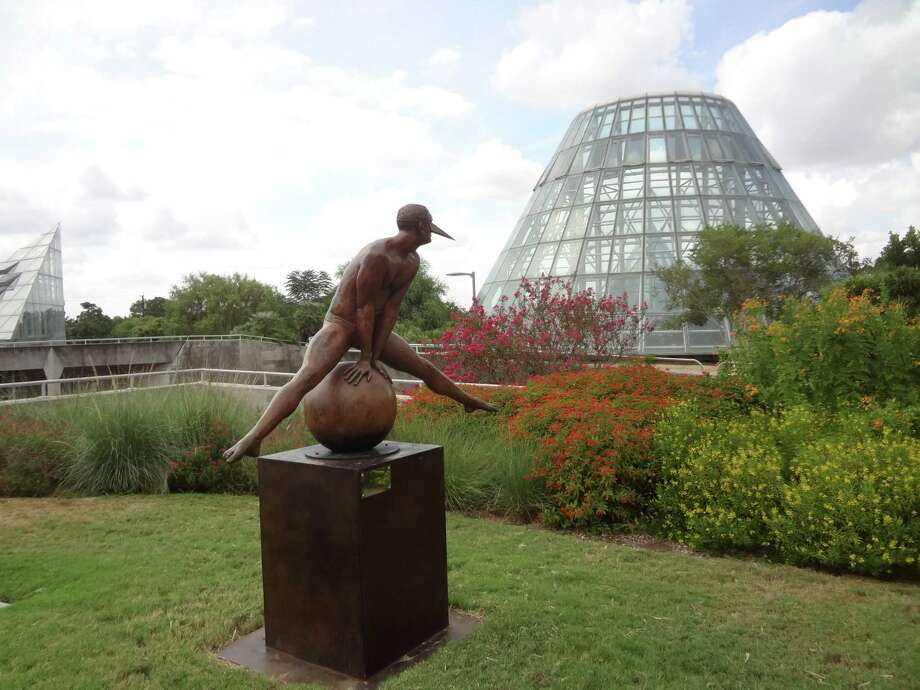 "Mexican artist Jorge Marín's ""Split Monumental"" is one of eight sculptures by the Mexican artist on view at the SA Botanical Garden. Photo: Photo By Steve Bennett /San Antonio Express-News"
