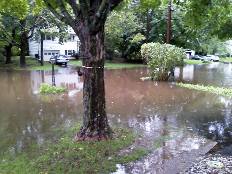 Flooding in the Meadowbrook Manor neighborhood in Brookfield has been an issue for many years. A $1.3 million FEMA grant will help pay for a storm water management system to help curb the problem. Photo: Contributed Photo / Contributed Photo / The News-Times Contributed