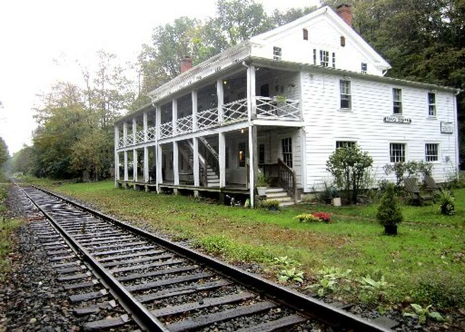 The Merwinsville Hotel, Brown's Forge Road, in the Gaylordsville section of New Milford will be the site of a fall pot luck dinner meeting with the hotel's Board of Director and a talk on the HouBike Trail. Photo: / Contirbuted Photo