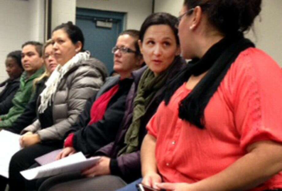 Bridgeport parents concerned District PAC rules they say were unfair attend school board meeting last year. Photo: Linda Lamebck / Linda Lambeck / Connecticut Post