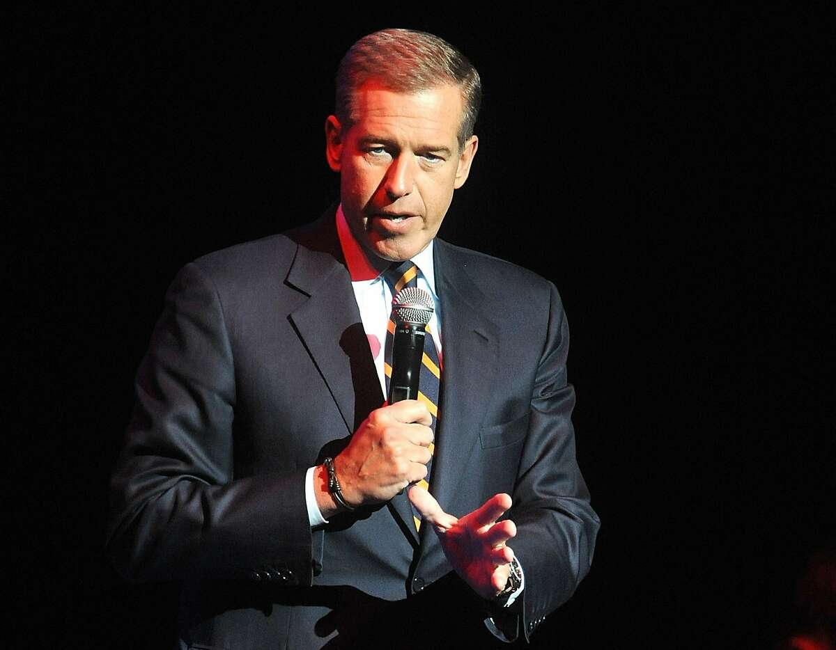 FILE - In this Nov. 5, 2014, file photo, Brian Williams speaks at the 8th Annual Stand Up For Heroes, presented by New York Comedy Festival and The Bob Woodruff Foundation in New York. Williams will return to the air following his suspension on Sept 22, 2015, as part of MSNBC's coverage of Pope Francis' visit to the United States.