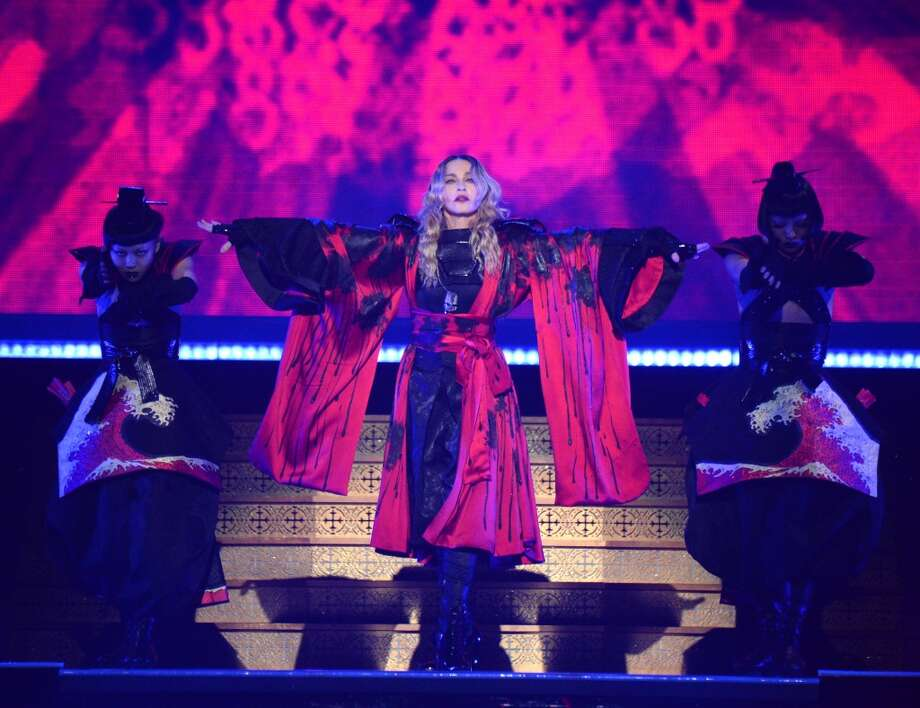 "Madonna performs onstage during her ""Rebel Heart"" tour opener at Bell Centre on September 9, 2015 in Montreal, Canada.  (Photo by Kevin Mazur/Getty Images for Live Nation) Photo: Kevin Mazur, Getty Images For Live Nation"