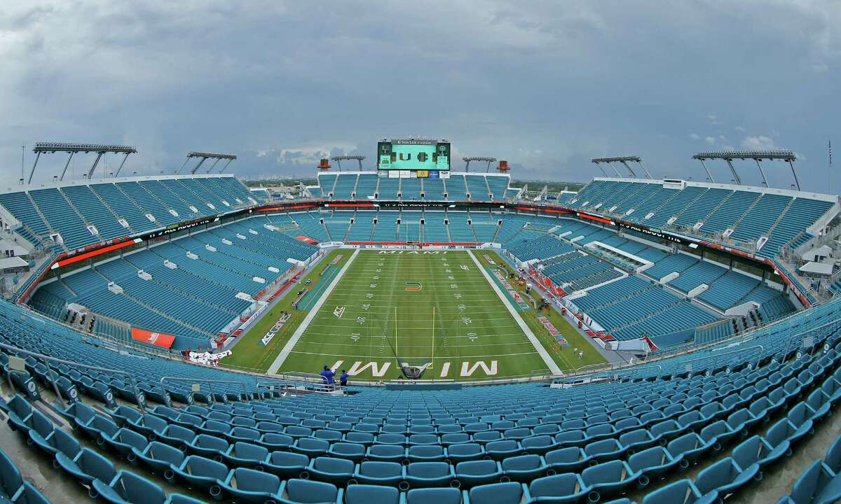 MIAMI GARDENS, FL - SEPTEMBER 5: A general view of Sun Life Stadium prior to the game between the Miami Hurricanes and the Bethune-Cookman Wildcats on September 5, 2015 in Miami Gardens, Florida. Miami defeated Bethune-Cookman 45-0. Sun Life Stadium is in the middle of a two year renovation.