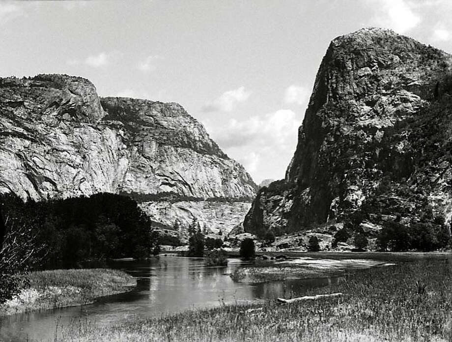 This photo shows Hetch Hetchy Valley in Yosemite National Park sometime before 1913. Photo: AP