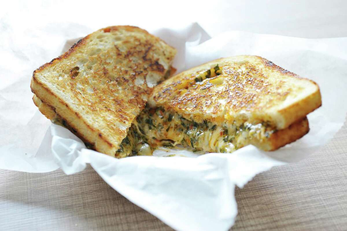 Capitol Melts Grilled Cheese Cafe, 136 State St., Albany Grilled cheese choices include the red pepper, pesto and spinach grilled cheese sandwich. Read Yelp reviews.
