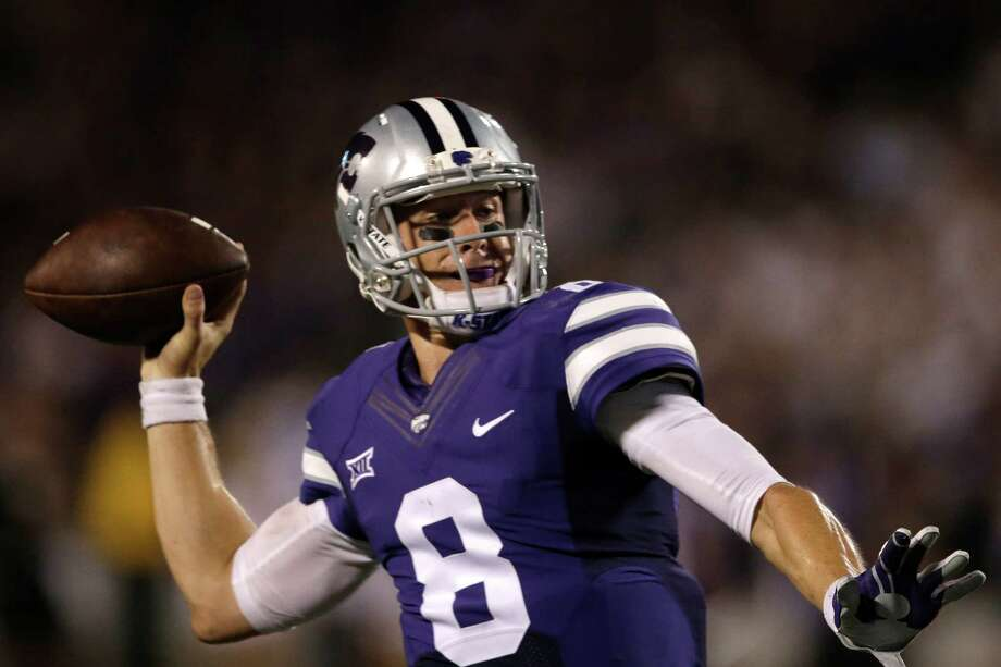Kansas State quarterback Joe Hubener during the first half of an NCAA college football game against South Dakota in Manhattan, Kan., Saturday, Sept. 5, 2015. (AP Photo/Orlin Wagner) Photo: Orlin Wagner, STF / Associated Press / AP