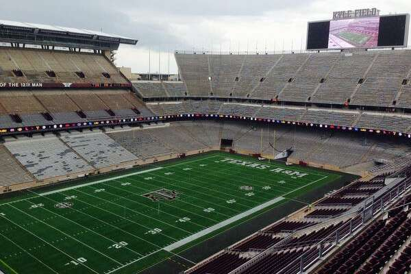 The view from the top deck of the new Kyle Field's west side. (Brent Zwerneman, Houston Chronicle)