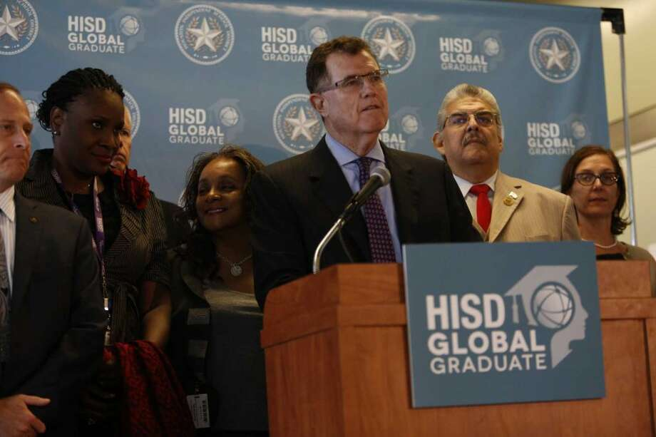 Superintendent Terry Grier, who took the helm of Houston ISD in 2009, announced in September that he would step down in early 2016. Photo: Steve Gonzales, Houston Chronicle