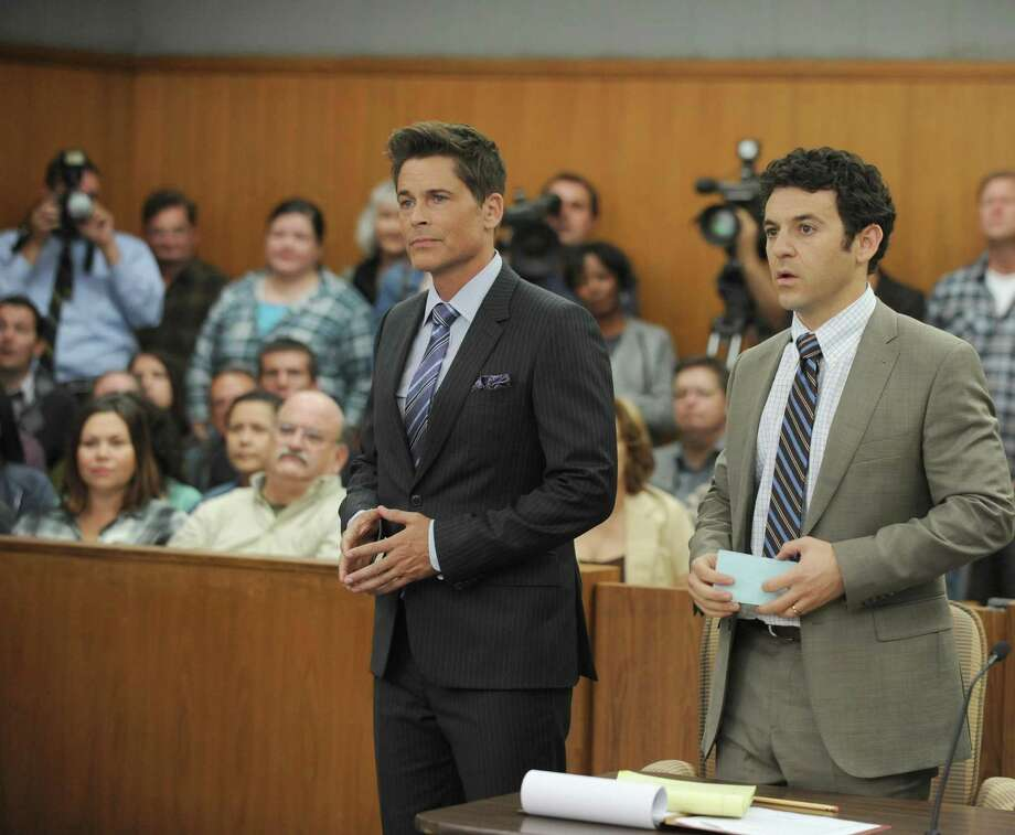 """The Grinder"" (7:30 p.m. Tuesdays, Fox; Sept. 29)  TV star Dean Sanderson (Rob Lowe), nicknamed ""The Grinder"" after the legal drama he starred in for eight years, is at loose ends when the hit series ends. He returns to his family in Boise, Idaho, to ponder his future, much to the chagrin of younger brother Stewart (Fred Savage), an actual lawyer often overshadowed by his famous sibling. Sure enough, Dean is soon playing a lawyer in real life, which leads to absurd hilarity and a surprisingly powerful courthouse combo. Lowe, another of Hollywood's over-50 Peter Pans, is a delight, both sweet and insufferable, and Savage matches him every step of the way. Photo: Ray Mickshaw /Associated Press / FOX"