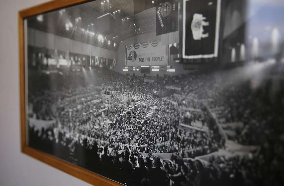 A photo shows the 1964 Republican National Convention taking place at the Cow Palace event center in Daly City, Calif., as seen on Thurs. September 10, 2015. Photo: Michael Macor, The Chronicle