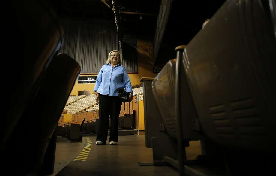Mara Kopp, President of the Board of Directors, inside the main arena at the Cow Palace event center in Daly City, Calif., on Thurs. September 10, 2015. Photo: Michael Macor, The Chronicle