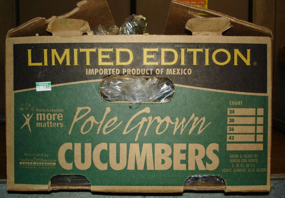 Cucumbers imported from Mexico and distributed by Andrew & Williamson Fresh Produce were linked to a salmonella outbreak. Far-reaching food industry rules aimed at reducing food-borne illness in the U.S. became final Thursday. Photo: California Department Of Public Health / CALIFORNIA DEPARTMENT OF PUBLIC