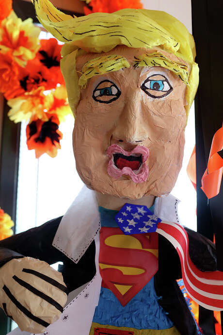 The Trump piñata has been in high demand since the start of the primary presidential campaigns. Photo: JERRY LARA, Staff / © 2015 San Antonio Express-News