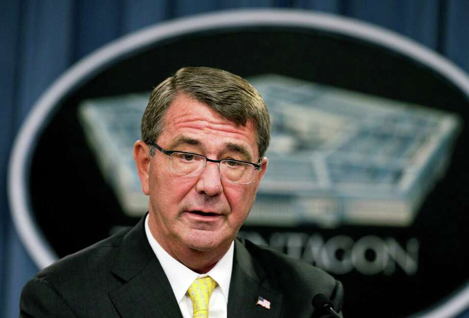 FILE - In this Aug. 20, 2015, file photo, Defense Secretary Ash Carter speaks during a news conference at the Pentagon. Carter has reminded the Pentagon's senior intelligence corps that they are expected to give him their unvarnished views, amid allegations that the military command overseeing the war against the Islamic State distorted or altered intelligence assessments to exaggerate progress against the military group, officials said Sept. 10. (AP Photo/Manuel Balce Ceneta, File) ORG XMIT: WX117 Photo: Manuel Balce Ceneta / AP