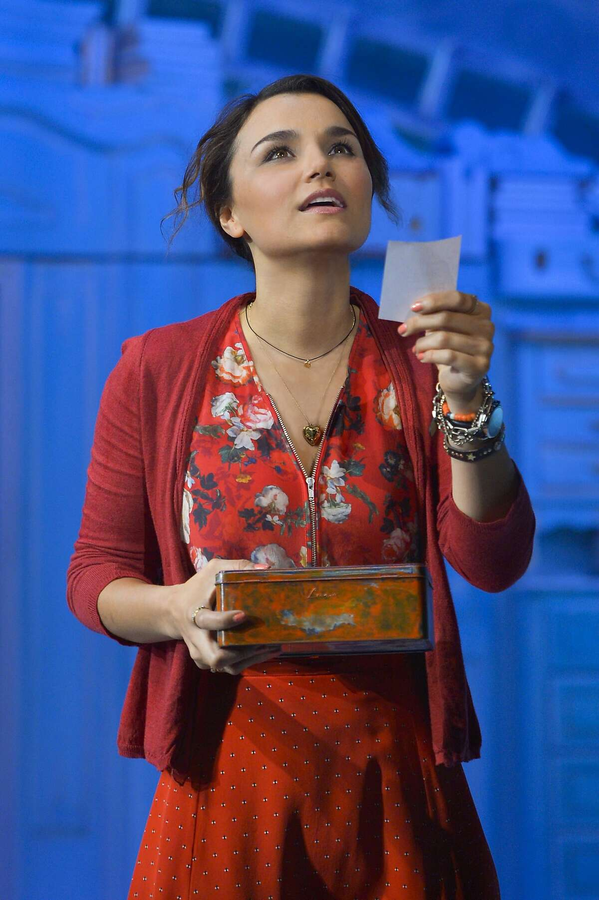 """Samantha Barks as Amelie in Berkeley Rep's world premiere of """"Amelie, A New Musical"""" NOTE: Amelie takes accent / over first e"""