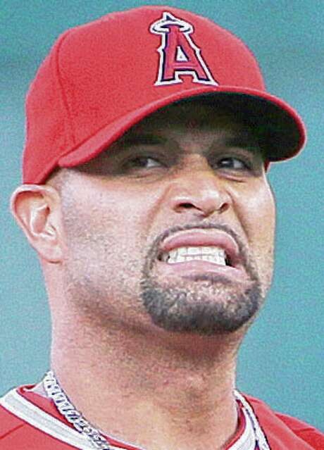 Los Angeles Angels' Albert Pujols before a baseball game against the Oakland Athletics in Oakland, Calif., Tuesday, Sept. 1, 2015. (AP Photo/Jeff Chiu) Photo: Jeff Chiu, STF / AP