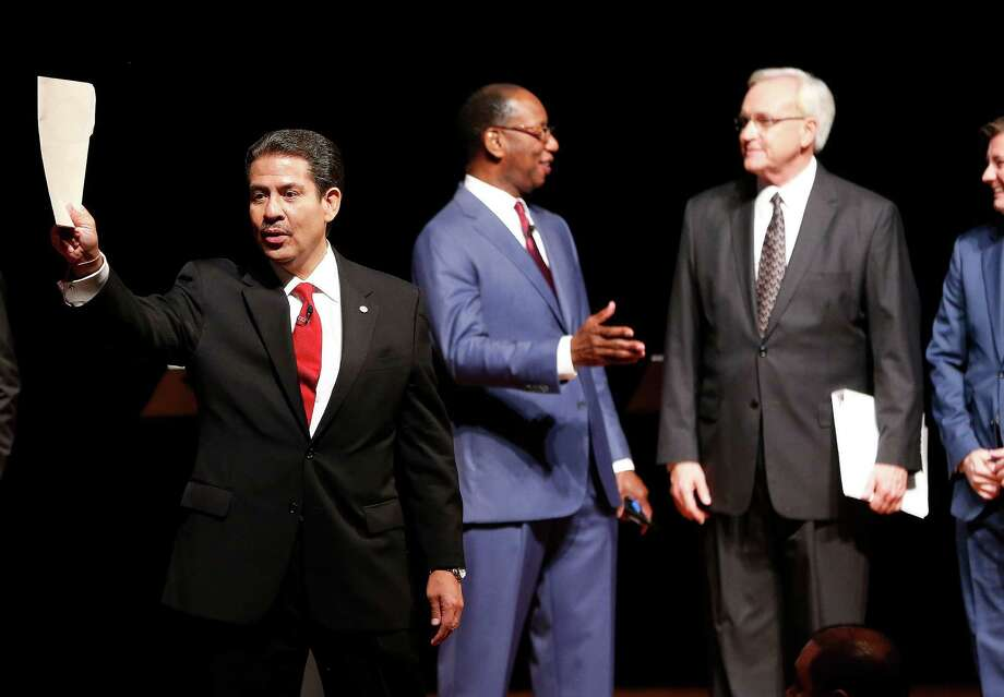 Mayoral candidate Adrian Garcia after the Houston mayoral debate at the Hobby Center Sept. 10. Photo: Karen Warren, Houston Chronicle / © 2015 Houston Chronicle