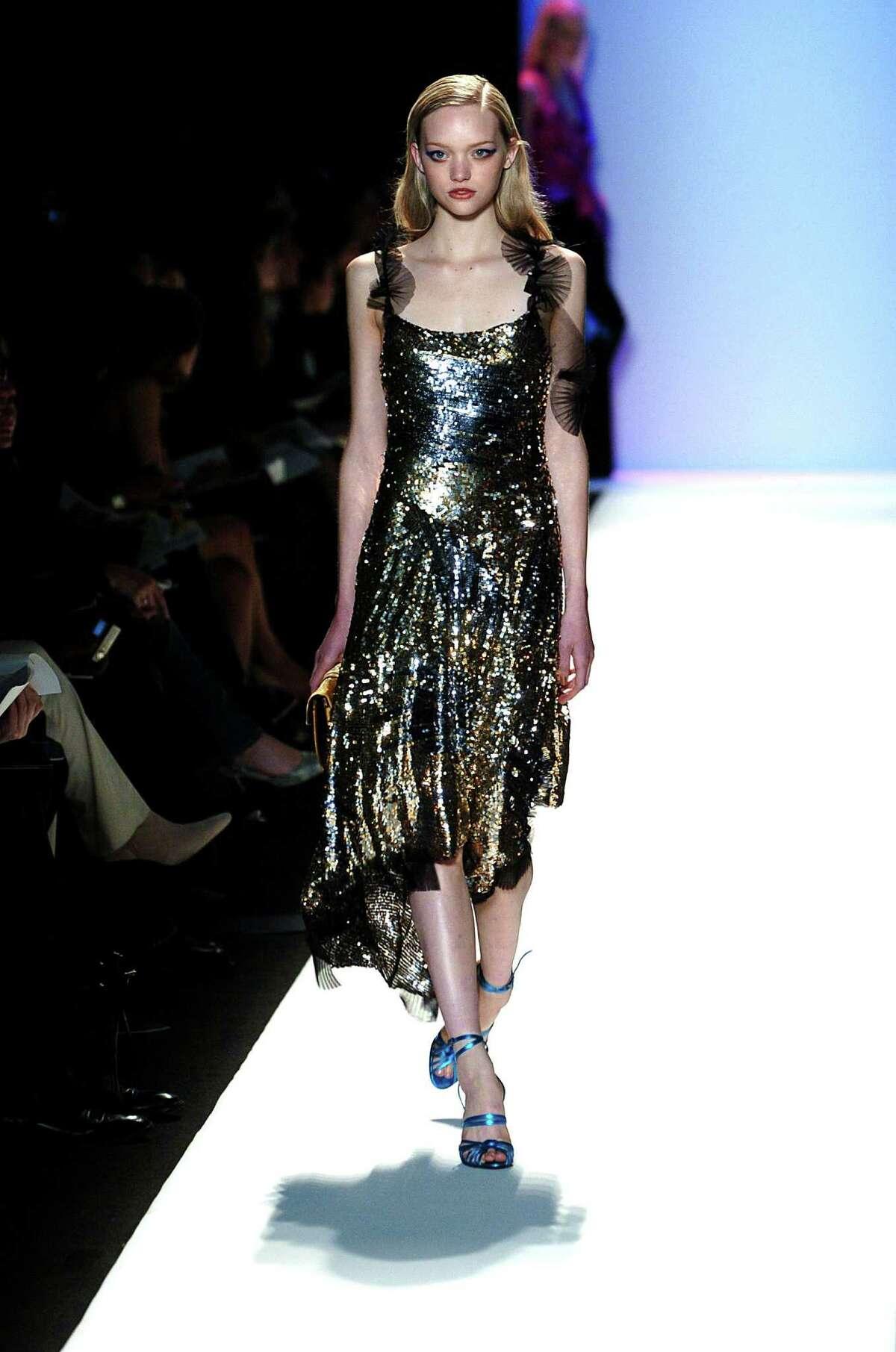 A model walks the runway at the BCBG Max Azria fashion show.