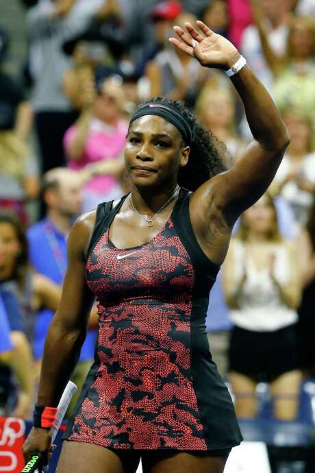 NEW YORK, NY - SEPTEMBER 08:  Serena Williams of the United States waves to the crowd after defeating Venus Williams of the United States in their Women's Singles Quarterfinals match on Day Nine of the 2015 US Open at the USTA Billie Jean King National Tennis Center on September 8, 2015 in the Flushing neighborhood of the Queens borough of New York City.  (Photo by Al Bello/Getty Images) Photo: Al Bello, Staff / 2015 Getty Images