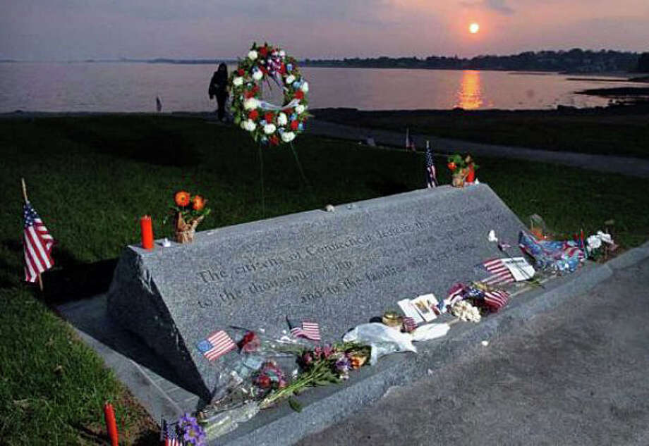 The memorial at Sherwood Island State Park in Westport to Connecticut victims of the Sept. 11, 2001, terrorist attacks. Photo: File Photo / File Photo / Fairfield Citizen