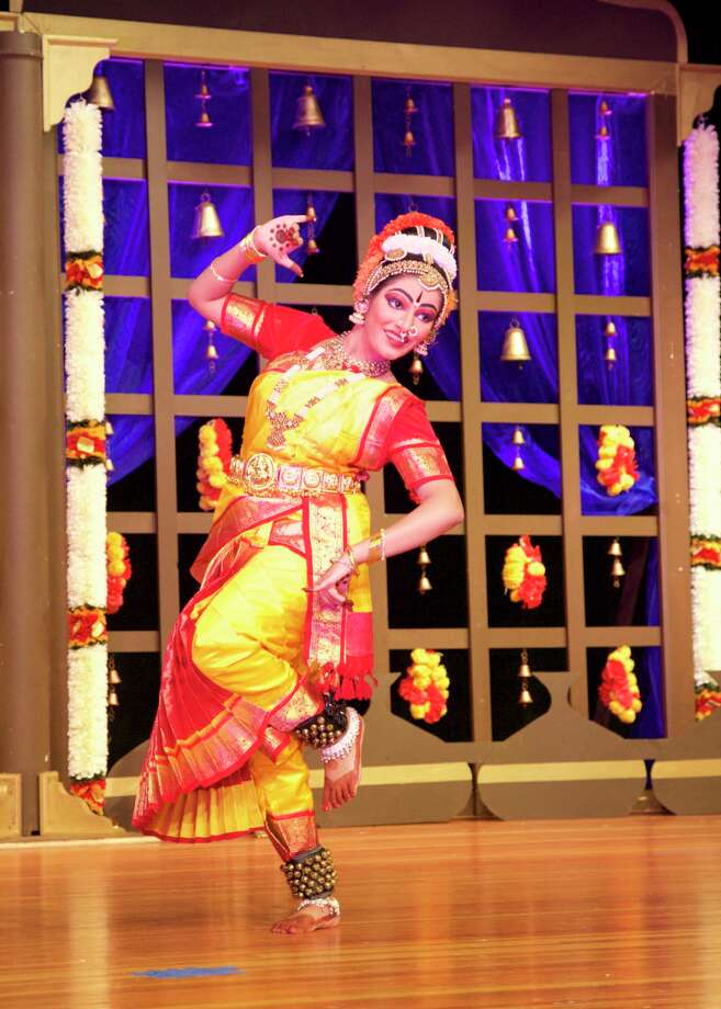 Yashaswini Soleti, a 15 year old junior at Lauralton Hall performing a traditional Indian dance. Photo: Provided Photo