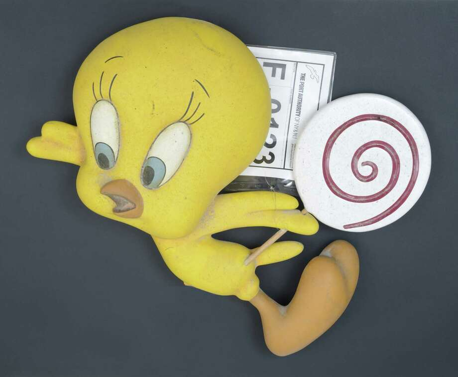 A Tweety Bird figure from the Warner Brothers store in the concourse level of the World Trade Center is among the artifacts added to the State Museum 9/11 display in Albany on Sept. 11, 2015. (Photo provided by State Museum)
