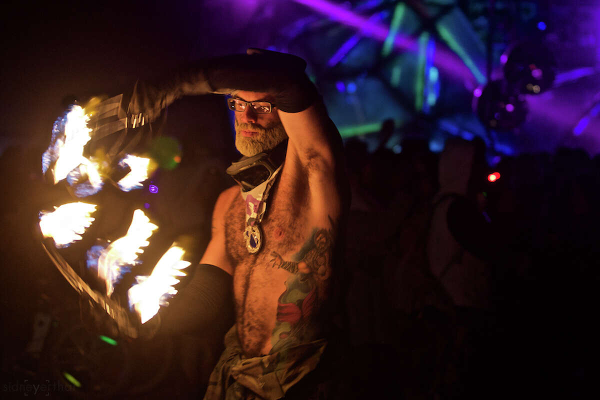 Participants attend Burning Man 2015, the largest outdoor arts festival in North America, in the Black Rock desert of Gerlach, Nevada.