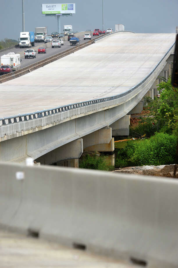 With construction complete on the Purple Heart Bridge's eastbound lanes, traffic is expected to begin using the new lanes Friday evening. By next weekend all directions of the older bridge will be closed for demolition.   Photo taken Thursday, September 10, 2015   Guiseppe Barranco/The Enterprise Photo: Guiseppe Barranco, Photo Editor