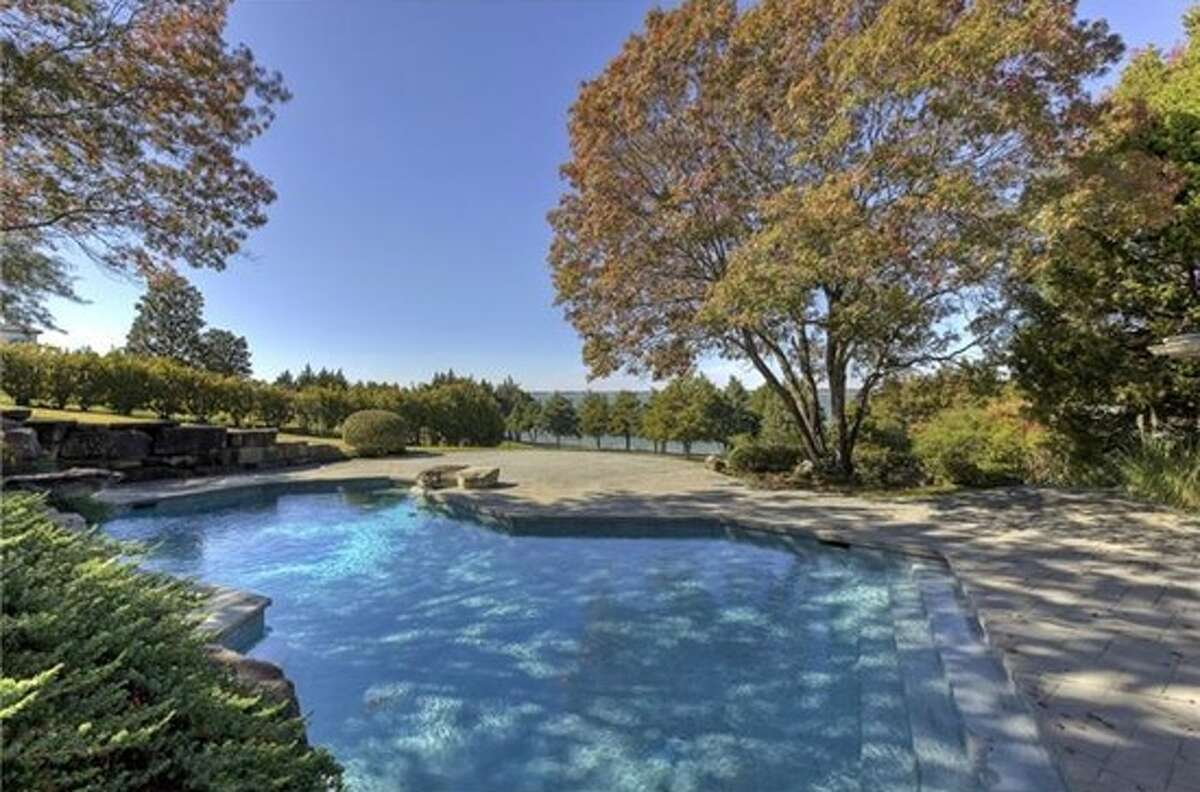 Former Miss Texas June Williams and her husband, Bob, a real estate developer, listed this waterfront home for $2.4 million. The home is located along Lake Ray Hubbard's east coast, and includes three bedrooms, 3.5 bathrooms, a chef's kitchen and a pool. Source: Trulia
